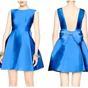 Kate Spade blue back bow, fit and flare dress